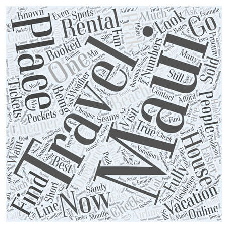 How To Find A Maui Vacation Rental Houses word cloud concept