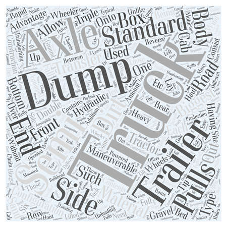 Dump Truck word cloud concept