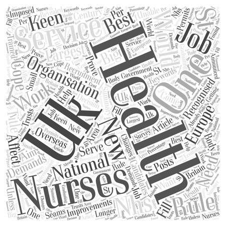 nhs: New Recruitment Rules For NHS Nurses word cloud concept