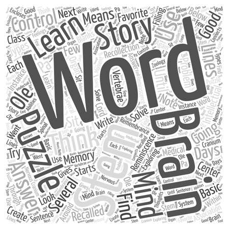 recollection: thestorylinesinmindpuzzles word cloud concept Illustration