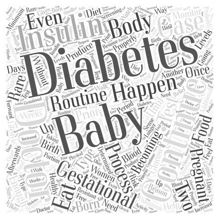 gestational: Gestational Diabetes What Happens after the Baby is Born word cloud concept