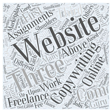 assignments: Copywriting Assignments word cloud concept Illustration
