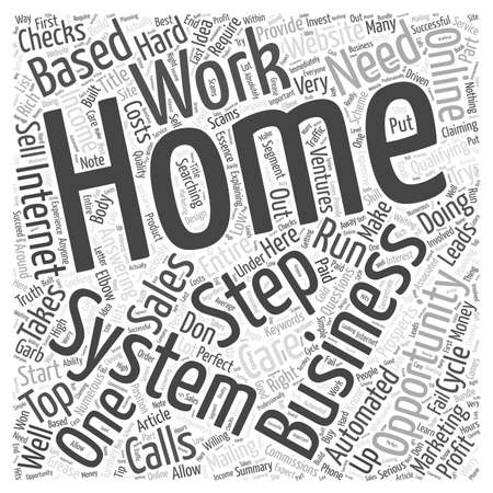 opportunity concept: One Step System A perfect home business online opportunity word cloud concept