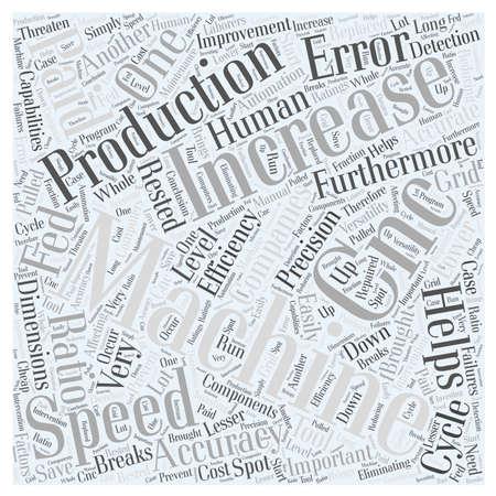 CNC により企業はどのように単語クラウドのコンセプト  イラスト・ベクター素材
