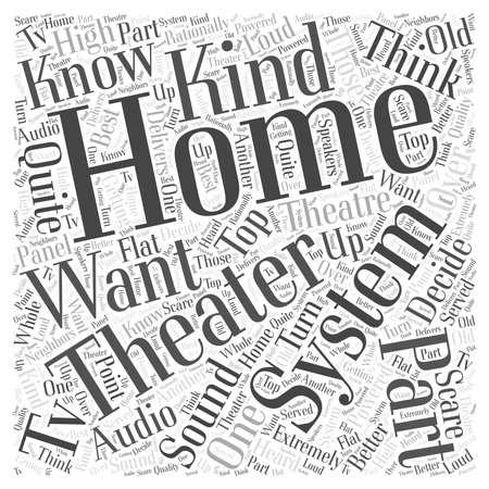 home theater: home theater system word cloud concept