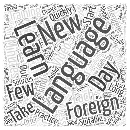 Interpreters in Foreign Language Training word cloud concept