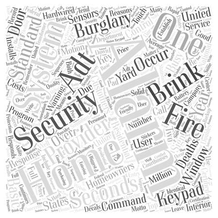 Home Security Alarm word cloud concept