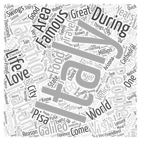 michelangelo: Italian People and your Italian Vacation word cloud concept