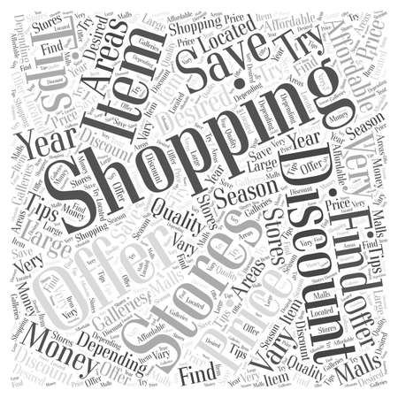SM save money while shopping word cloud concept Ilustrace