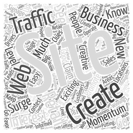 Creating Traffic word cloud concept