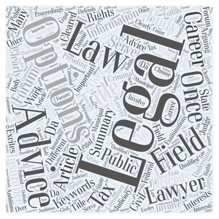 Career Options In Law word cloud concept