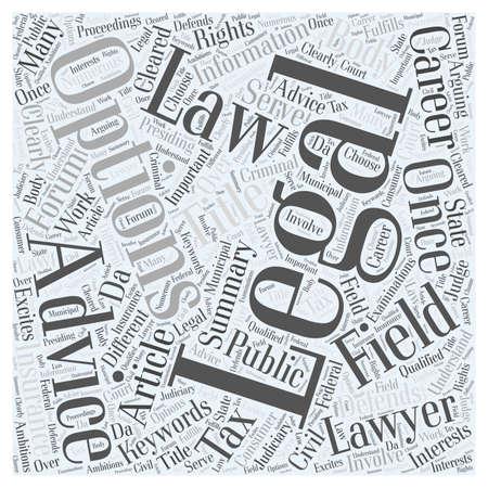 proceedings: Career Options In Law word cloud concept