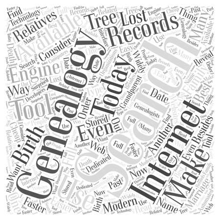 genealogy search engine word cloud concept