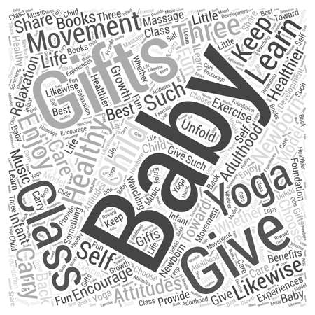 unfold: Three newborn gifts that keep giving word cloud concept Illustration