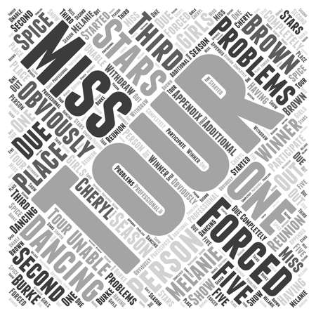 unable: Dancing with the Stars The Tour word cloud concept