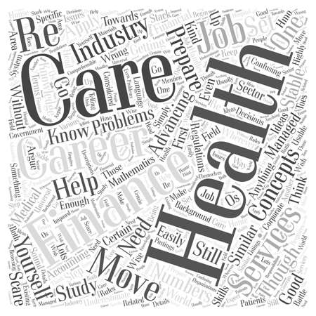 Finance careers in health care word cloud concept