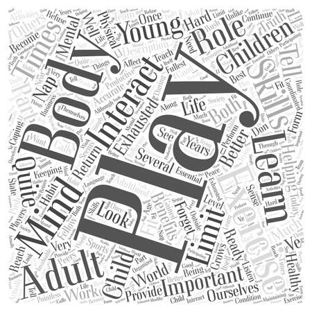 Exercise And Play word cloud concept 일러스트