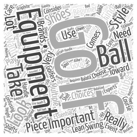 Golf Equipment word cloud concept