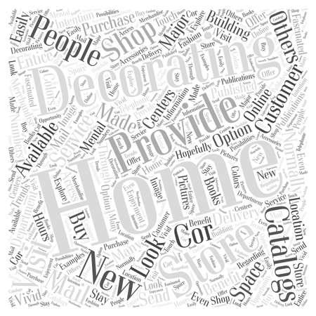 Home Decorating Catalogs word cloud concept Stock Illustratie