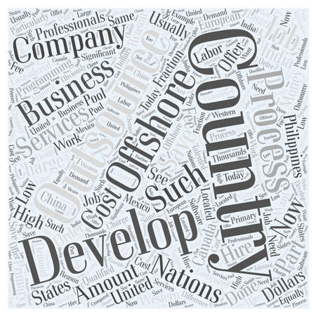 offshore outsourcing services word cloud concept
