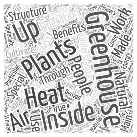 heats: how does a greenhouse work word cloud concept