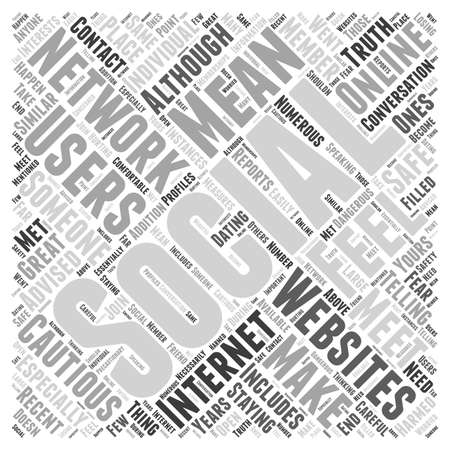 should: Staying Safe with Social Networking Websites word cloud concept