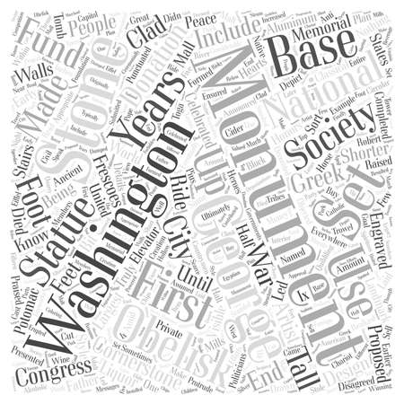 The Washington Monument word cloud concept