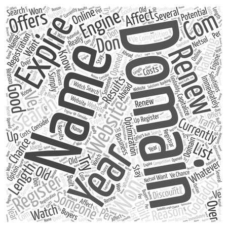 도메인 이름 및 검색 엔진 순위 단어 구름 개념 일러스트