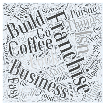 rather: Things to Look for In a Coffee Franchise word cloud concept Illustration