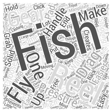 Fly Fishing Reels word cloud concept