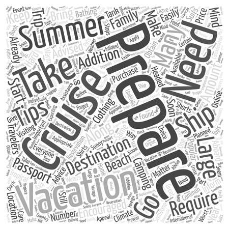 Preparing For Your Summer Vacation word cloud concept