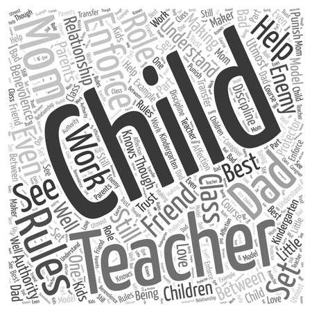 utmost: Making the Kindergarten Teacher a Friend and not an Enemy word cloud concept Illustration