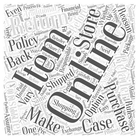 Easy Returns With Online Shopping word cloud concept