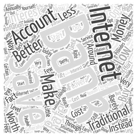 Internet Banking Savings Accounts word cloud concept