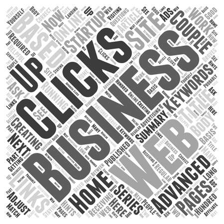 How To Creating a Web Based Business Advanced Series I word cloud concept Çizim