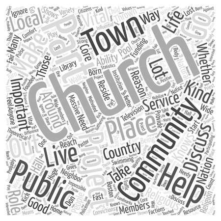 L'Église comme Good Neighbor concept de mot de nuage Banque d'images - 67581987