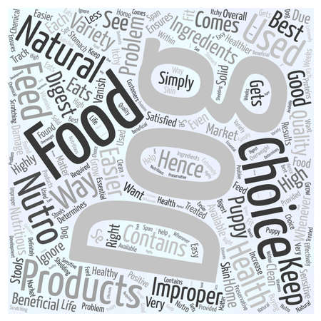 should: nutro natural choice dog food word cloud concept