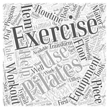 pilates exercise equipment word cloud concept