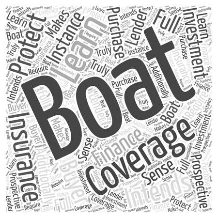 Learn how to protect your boating investment word cloud concept