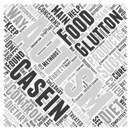 Dietary Concerns Glutton and Casein word cloud concept
