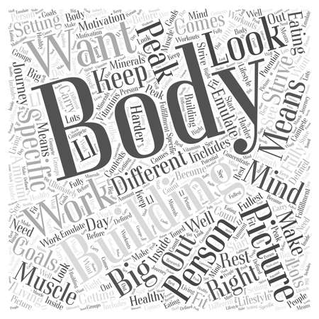 big picture: The Big Picture in Body Building word cloud concept Illustration