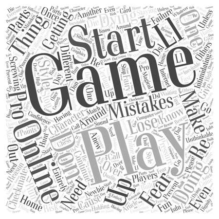 Playing Games Pro Style word cloud concept