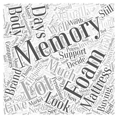 Helping You Decide about Memory Foam Mattress word cloud concept