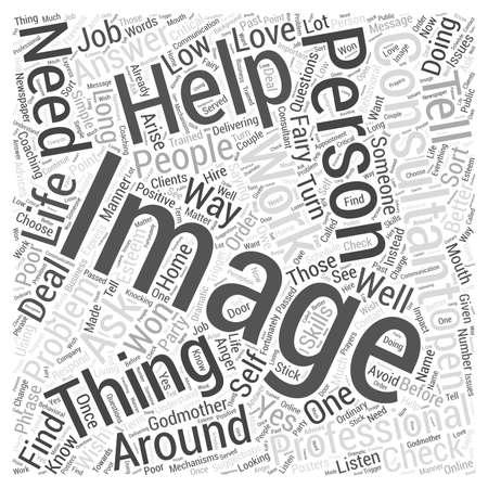 Moet ik een word cloud-concept van An Image Consultant krijgen Stock Illustratie