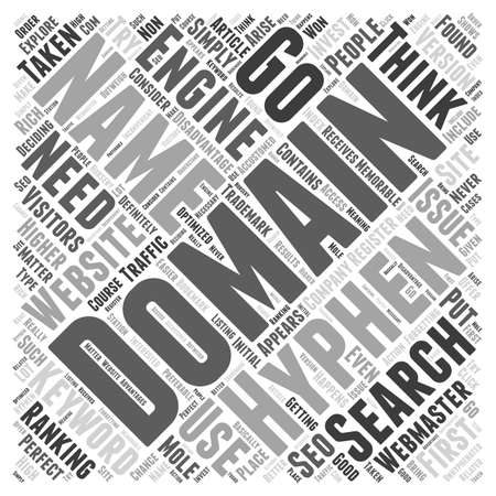 webmaster: Hyphenated Domain Names word cloud concept