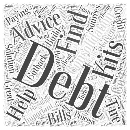 Important Advice on Debt Consolidation word cloud concept Ilustração