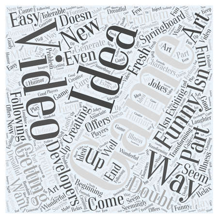 Getting New Ideas for Video Games word cloud concept Vectores