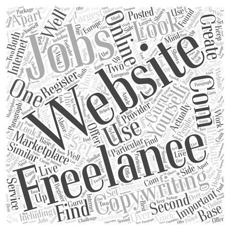 should: Freelance Copywriting Jobs word cloud concept