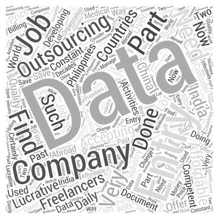 Saisie de données mot de l'externalisation cloud notion Banque d'images - 67582045