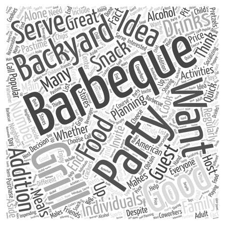 backyard: Planning a Backyard Barbeque Party word cloud concept Illustration